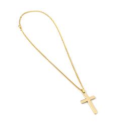 Halsband Kedja med Stort Kors (Guld) guld