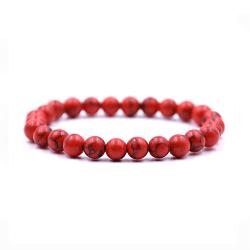 Handgjort Armband Röd Sten Onyx röd