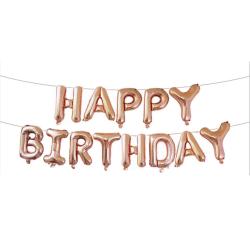 Happy Birthday Ballonger Fest Födelsedag Kalas Födelsedagsfest guld