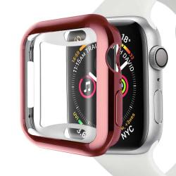 Heltäckande Apple Watch 4/5/6/SE Skal Skärmskydd Rosa 44mm rosa 44