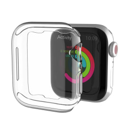 Heltäckande TPU Skal Case Apple Watch 4/5/6/SE Skärmskydd 40mm transparent