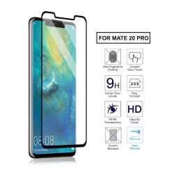 Huawei Mate 20 Pro Heltäckande HD Skärmskydd Kolfiber Härdat svart