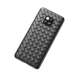 Huawei Mate 20 Pro Mobilskal Flätat Svart Läder Skinn svart