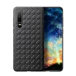 Huawei P20 Mobilskal Flätat Svart Läder Skinn svart