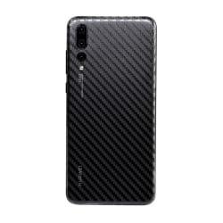 Huawei P20 Pro Kolfiber Vinyl Skin Dekal Skyddsfilm Carbon transparent