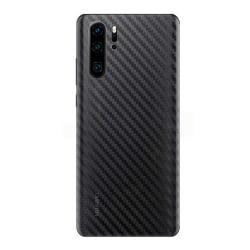 Huawei P30 Kolfiber Vinyl Skin Dekal Skyddsfilm Carbon transparent
