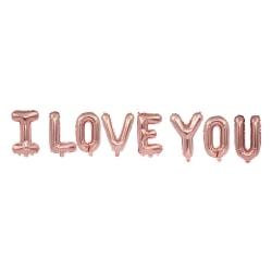 I Love You Ballonger Jag Älskar Dig Kärlek Årsdag Födelsedag guld