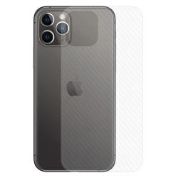 iPhone 11 Pro Max Kolfiber Vinyl Skin Dekal Skyddsfilm Baksida transparent