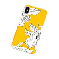 iPhone 7 8 Plus Gult Mobilskal Asiatiskt Sakura Blommor gul