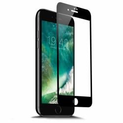 iPhone SE HD Skärmskydd Kolfiber Härdat Glas Svart svart
