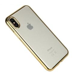 iPhone X Genomskinligt Mobilskal Fodral Guld TPU Bumper guld