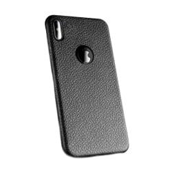 iPhone X Mobilskal Svart Läder Skinn svart