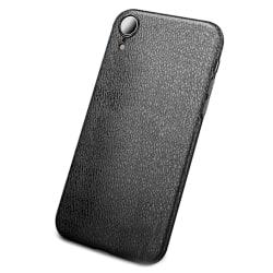 iPhone XS Mobilskal Svart Läder Skinn svart