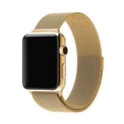 Klockarmband för Apple Watch 1/2/3/4/5 Milanese Mesh 38/40 Guld guld