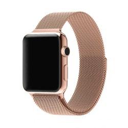 Klockarmband för Apple Watch 1/2/3/4/5 Milanese Mesh 38/40 Rose guld