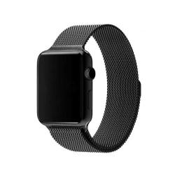 Klockarmband för Apple Watch 1/2/3/4/5 Milanese Mesh 42/44 Svart svart