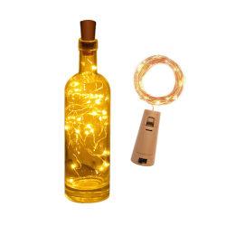 LED Ljusslinga Lampor Belysning för Flaskor Dekoration gul