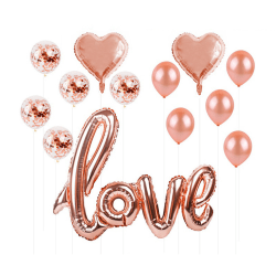 Love Kärlek Ballonger Bröllop Fest Bröllopsfest Glitter guld