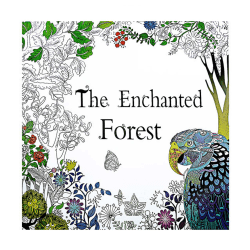 Målarbok Mindfulness Avslappning Anti-Stress Enchanted Forest vit