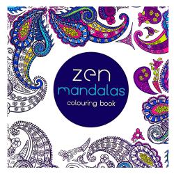 Mindfulness Målarbok Anti-Stress Zen Mandala vit