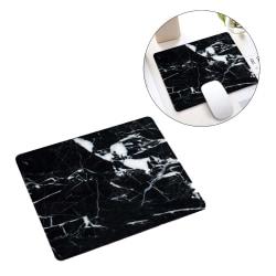 Mjuk Musmatta med Tryck Svart Marmor 21x26cm svart