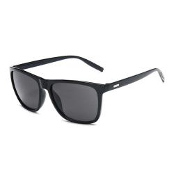 Moderna Svarta Solglasögon + Senilsnöre svart