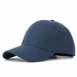 Mörkblå Keps Sport Strapback Kardborrspänne Blå Navy blå one size