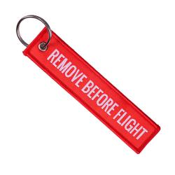 Nyckelring Remove Before Flight Pilot Bomberjacka - Röd röd