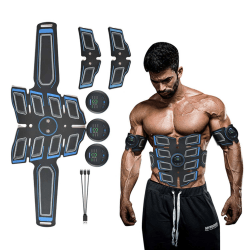 Oblique Pro Muskelstimulator | EMS Tränare Helkropp Magrutor svart