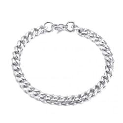 Pansarlänk Armband Kedjearmband Silver 7,5mm silver