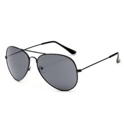 Svarta Pilot Aviator Solglasögon Mörkt Glas + Senilsnöre svart