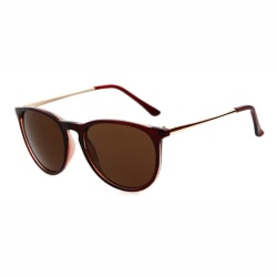 Retro Solglasögon Brun Brunt Glas med Senilsnöre brun