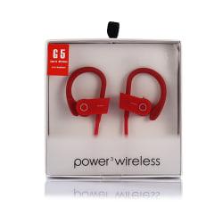 Röda Trådlösa Bluetooth Stereo In-Ear Hörlurar Träningshörlurar röd