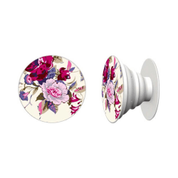 Rosa Blommor Knapp Universalt Grepp Hållare Ställ Mobiltelefon flerfärgad