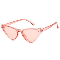 Rosa Genomskinliga Solglasögon Ljust Glas med Senilsnöre rosa