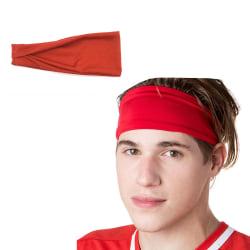 Rött Pannband för Sport Träning Gym Yoga röd