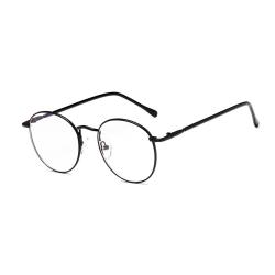 Runda Glasögon Klart Glas utan Styrka Svart svart
