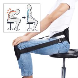 Ryggstöd för Bättre Hållning Hållningsstöd Stillasittande Arbete svart