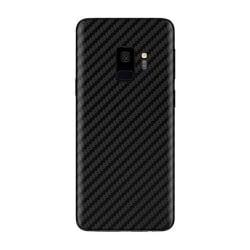 Samsung Galaxy S9 Kolfiber Skin Skyddsplast Baksida transparent