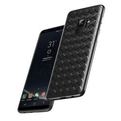 Samsung Galaxy S9 Mobilskal Flätat Svart Läder Skinn svart