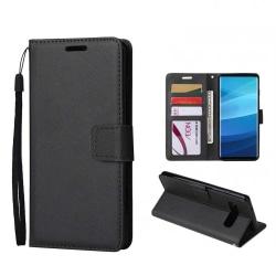 Samsung Galaxy S9 Plånboksfodral Svart Läder Skinn Fodral svart