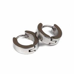 2-pack Silver Piercing Örhänge Piercingsmycke Ring Metall silver