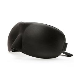 Skön 3D Foam Sovmask Ögonmask för Flyg Resor (Svart) svart one size