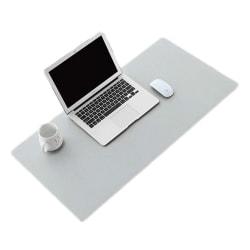 Skrivbordsunderlägg 80x40cm PU Skinn Läder Grå grå