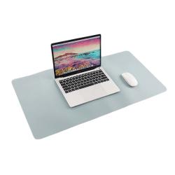 Skrivbordsunderlägg 80x40cm PU Skinn Läder Ljusblå blå