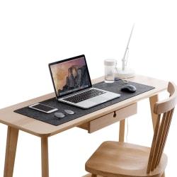 Skrivbordsunderlägg 88x33cm Grå Filt grå