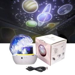 Stjärnprojektor - Planet Nattlampa - Galaxy Star Projektor flerfärgad