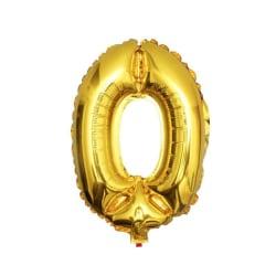Stor Sifferballong i Guld för Födelsedag Fest 102cm - 0 guld