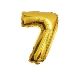 Stor Sifferballong i Guld för Födelsedag Fest 102cm - 7 guld