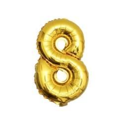 Stor Sifferballong i Guld för Födelsedag Fest 102cm - 8 guld
